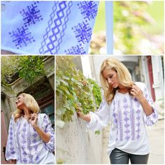 Purple Romanian blouse<3 #handmade #outfitoftheday Outfit Of The Day, Label, Street Style, Purple, Blouse, Handmade, Fashion, Today's Outfit, Moda