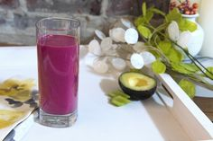 Start detoxing with a fiber-rich smoothie made with beets to support blood circulation and cleanse the liver.