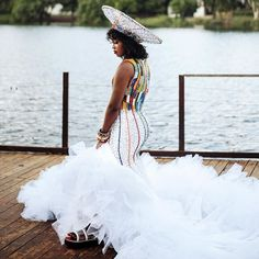 Zulu Traditional Wedding Dresses, Traditional Wedding Decor, Traditional Outfits, African Goddess, African Wedding Attire, Wedding Planning, Wedding Ideas, Latest African Fashion Dresses, Dream Closets