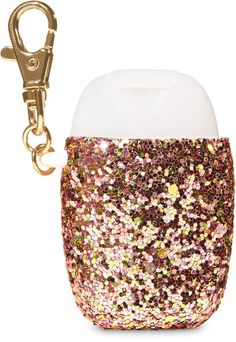 Find Shiny Sequin PocketBac Holder at Bath And Body Works. Gently wash away dirt and germs, leaving your hands feeling clean, soft and lightly scented. Girly Things, Cool Things To Buy, Hand Sanitizer Holder, Kawaii, Makeup Collection, Bath And Body Works, Body Care, It Works, Fragrance