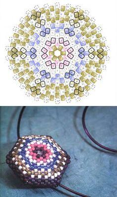Шестиугольный кулон / Кулоны и подвески / Biserok.org