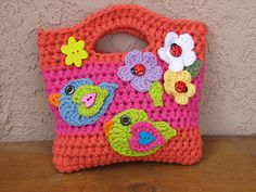 Sweet Lil' Girls Purse with Two Birds