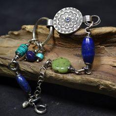 kolorowa bransoleta,bransoleta z kamieniami - Bransoletki - Biżuteria w ArsNeo