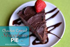 Chocolate Covered Strawberry Pie #Recipe