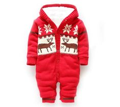 Baby Winter Thick Reindeer Onsie - Little Knot Heads