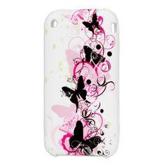 Butterflies TPU Soft Case voor iPhone 3G en 3GS #covermaniabe #iphone3hoesje #iphonecover www.cover-mania.be