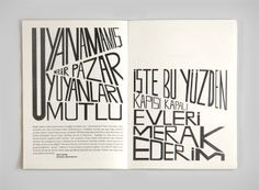 Seyyar Sesler 3 Fanzine by Mesut Uğurlu, via Behance // Use for about page actual text as not much to say; bold and fits with simplicity of anon's premise