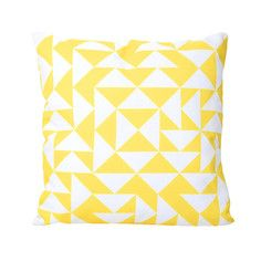 E Pillow 20x20 Yellow, $45, now featured on Fab.