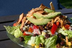 Meal Planning 101: Nacho Ordinary Taco Salad with Creamy Lime Cilantro Dressing