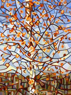November Sun abstract painting by Mandy Budan