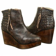 Women's BED:STU Ghent Wedge Bootie Black Lux Shoes.com