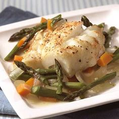 Whitefish, which has more fat than some of the other white-colored fish, provides rich flavor to this low-calorie dish.