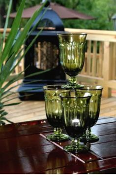 Noritake PROVINCIAL COLONIAL (MOSS) Green Iced Tea Glass Goblet - 13 oz - Additional Available - by periodpiecesantiques on Etsy