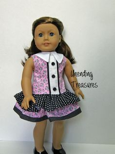 American Girl doll clothes  ruffle dress  18 by Unendingtreasures, $22.00