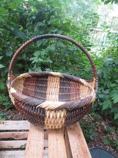 Vintage Large Cherokee Indians Splint Basket Native American Weaver Signed | eBay