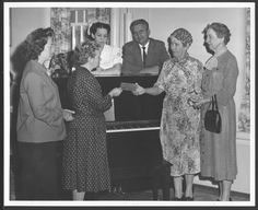 Piano presented to the Osawatomie State Hospital by the grand children of the Reverend Samuel Adair in 1958.