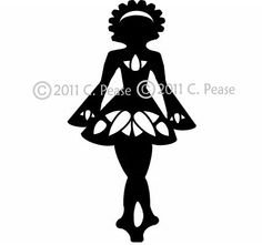 rish Feis Dancer Decal / Sticker: many different styles