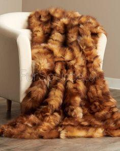 Crystal Fox Fur Blanket / Fur Throw   Fur Source