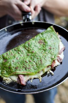 Spinach, Ham Hock and Gruyere Cheese Crepes from Kitchen Hero: Great Food For Less: http://www.amazon.co.uk/dp/0007415508/ref=rdr_ext_sb_ti_hist_1