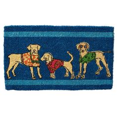 Summer Beach Dogs Coir Doormat | The Company Store