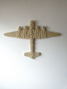 hand-knitted lancaster bomber, Claire Platt