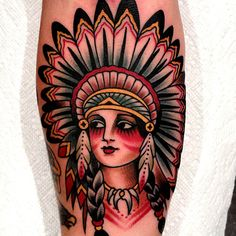 Native Girl #tattoo #native #binspired