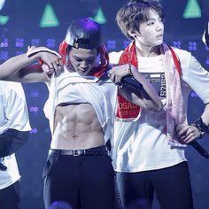 """Oh shit. I have abs?! Damn I'm hot."" Ft. maknae - #bts #jimin #jungkook"