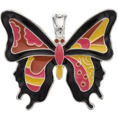 wearable ART Mosaic Butterfly Pendant ($16) ❤ liked on Polyvore featuring jewelry, pendants, multicolor, tri color jewelry, charm pendants, butterfly pendant, pendant jewelry and metal jewelry