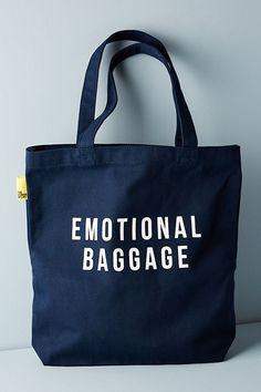 The School of Life Emotional Baggage Tote – Mode für Frauen Estilo Preppy, Sacs Design, Fabric Bags, Baggage, Tote Handbags, Canvas Tote Bags, Canvas Totes, Jute, Reusable Tote Bags