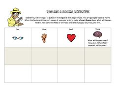 Free Social Thinking Download!  Includes activities for Expected/Unexpected Behaviors, Being a Social Detective, Rock Brain and Glassman.  Great for Autism classroom!