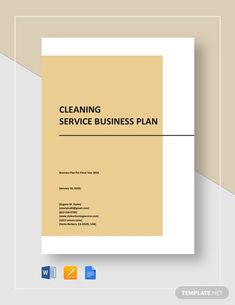 Cleaning Service Business Plan Template - Word (DOC) | Google Docs | Apple (MAC) Pages | Template.net Business Plan Template Word, Business Plan Pdf, Business Planning, Agriculture Business Plan, Customer Service Books, Cleaning Service, Cleaning Checklist, Cleaning Recipes, Estimate Template