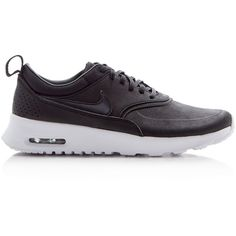 Nike Air Max Thea Lace Up Sneakers ($115) ❤ liked on Polyvore featuring shoes, sneakers, laced shoes, lace up sneakers, laced up shoes, lacing sneakers and light weight shoes