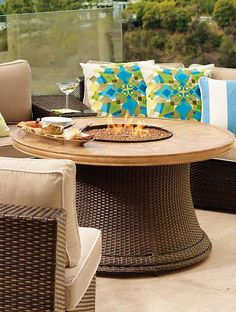 Enjoy the chilly fall nights outside with your guests gathered around the Pasadena Fire Table; a fall entertaining essential.