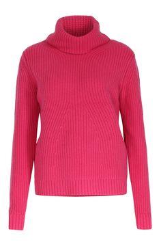 Grobstrick Pullover von bloom in Pink  Leicht Oversized  Breiter…
