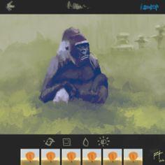 F*ck Humans  gorilla insta art design