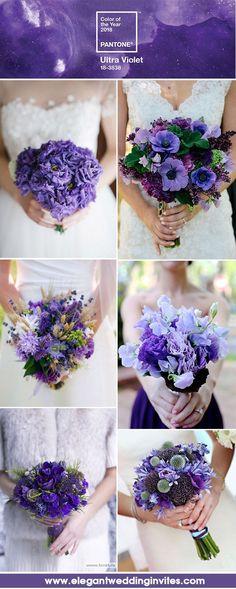 Ultra Violet Purple Wedding Bouquets