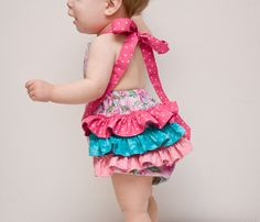 Baby Ruffled Romper PDF Sewing Pattern - The Sweetest Patterns. $6.00, via Etsy.