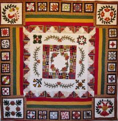 Heritage Medallion by 1996 Machine pieced, Hand Applique, Paper pieced, Broderie Perse Hand Quilted by Me! Quilting Blogs, Quilting Tutorials, Hand Quilting, Hand Applique, Applique Quilts, Paper Piecing Patterns, Quilt Patterns, Medallion Quilt, Quilt Festival