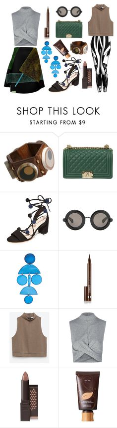 """""""Sonny Dragon"""" by roo-roo-lu ❤ liked on Polyvore featuring Marni, New Arrivals, Loeffler Randall, Christopher Kane, Annie Costello Brown, Clinique, Zara, Topshop, Burt's Bees and tarte"""