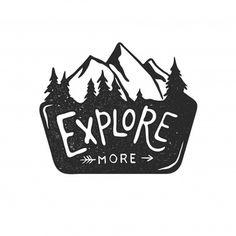 Mountain Logos, Logos With Mountains, Camp Logo, Outdoor Logos, Retro Illustration, Logo Design Inspiration, Vintage Logos, Vintage Logo Design, Branding Design