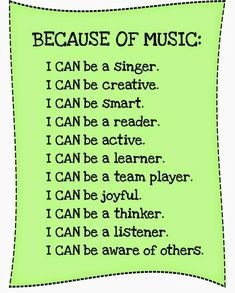 Why MUSIC is so Important in Child Development.  FREEBIE POSTERS for you to use in social media, posters in your classroom or flyers. It's a jpeg file. Just download onto a blank document and size to your need-then print or upload. Here's some links to some ideas and resources you might want to check out …