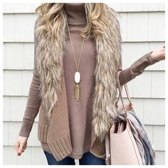 Just the right amount of faux fur. Love the color of it too