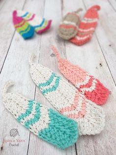 Tunisian Crochet Feathers