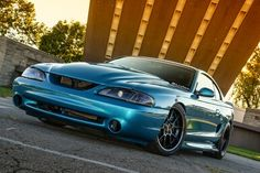 A detailed look at Bryan Reid's heavily modified street 1994 Ford Mustang. Sparco seats, OEM interior, a tubular front suspension and more. Ford Mustang History, Sn95 Mustang, Mercury Capri, Spa, Unique Cars, Performance Cars, Ford Gt, Car Pictures, Car Pics