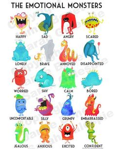 The Emotional Monsters! Such a beautiful way to teach the children about their emotions. Getting one to hang in their room!