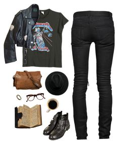 """""""talamasca"""" by dieliner ❤ liked on Polyvore featuring Cutler and Gross, Yves Saint Laurent, ASOS, PRIVATE LIVES, VIPARO, MadeWorn, Topshop, Jean-Paul Gaultier, book and grunge"""