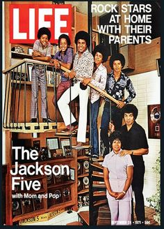 Rock Stars at Home with their Parents:  The Jackson Five with Mom and Pop  -  September 1971