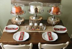 beautiful way to display #holiday #desserts