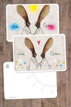 Karte Frohe Ostern // greeting card happy easter via DaWanda.com