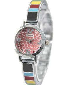 FW732A New Shiny Silver Band PNP glänzende silberne Uhrgehäuse-Rosa-Armband-Uhr-Dial